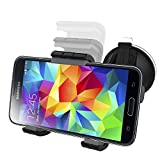 Samsung Galaxy S5 Easy-dock Car Mount Holder [Windshield/Dashboard Cradle Kit] New 2015 Version