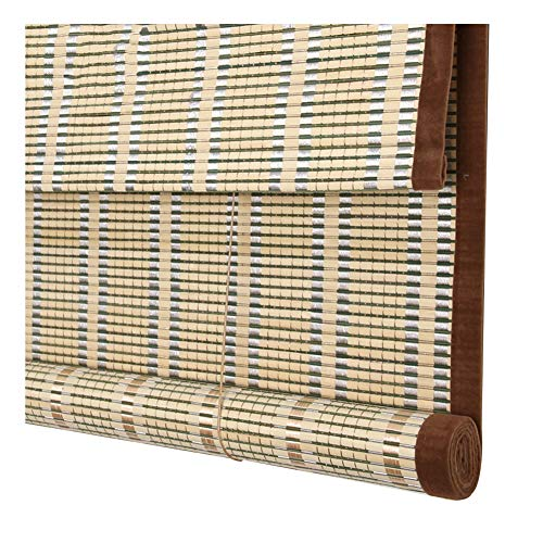 - PENGFEI Bamboo Curtain Roman Roller Blinds Restaurant Tea Room Partition Hanging Ornament, 3 Colors, Size Customization (Color : A, Size : 80X200CM)
