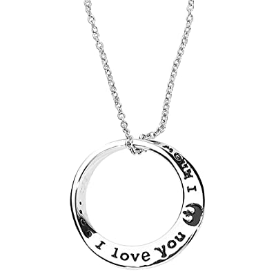 Star Wars Stainless Steel I Love You I Know Mobius Necklace.: Toys & Games