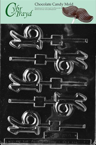 16 Chocolate - Cybrtrayd L011 16 Lolly Chocolate Candy Mold with Exclusive Cybrtrayd Copyrighted Chocolate Molding Instructions