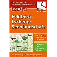 Klemmer Pocket Rad-, Wander- und Paddelkarte Felberg-Lychener Seenlandschaft: Maßstab 1:50.000, GPS geeignet, Freizeit-Tipps auf der Rückseite