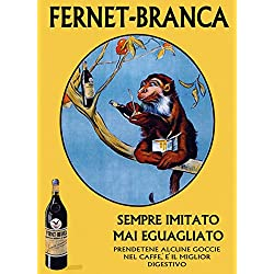 "Monkey Tree Fernet Branca Italy Italia Italian Drink European Vintage POSTER Repro 12"" X 16"" Image Size. We Have Other Sizes Available!"