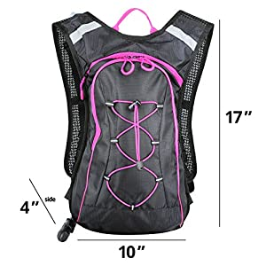 Ladies Pink Hydration Pack backpack 2 litre (non flash)