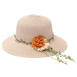 Heart .Attack Summer Holiday Beach Shade Sun Hat Straw Hat Korean Holiday Flower Foldable Sunglass Straw Hat,Hat Pink