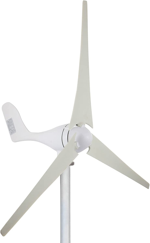 Cueffer 100W 12VGenerador de Turbina Eólica Aerogenerador de 3 Palas Generador de Turbina de Viento de Controlador de Carga MPPT para Alimentación Suplementaria Wind Turbine Generator