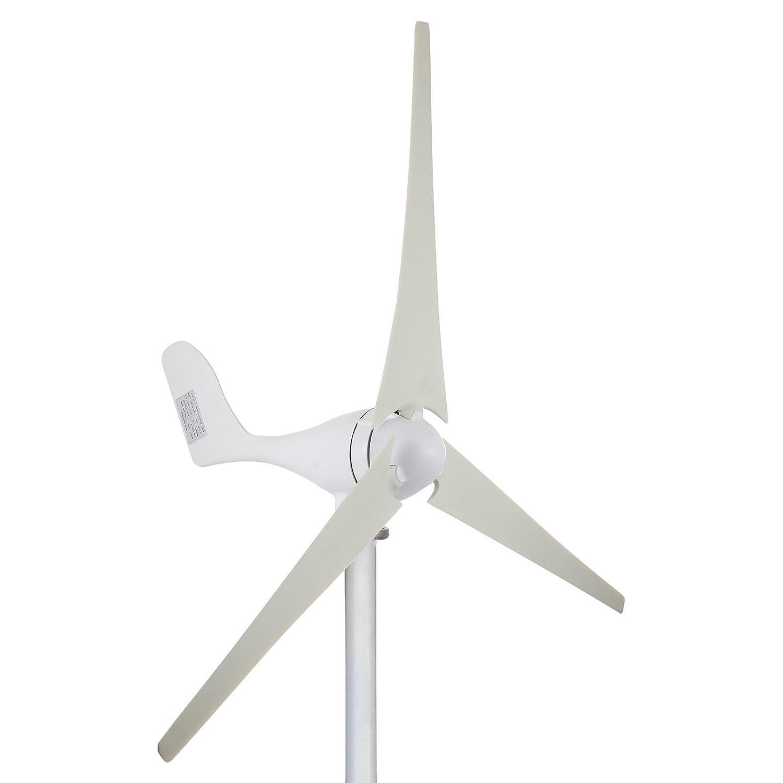 Cueffer 700 W 24V/ 200 W 12V Generador de turbina eó lica Aerogenerador de 3 palas Generador de turbina de viento de controlador de carga MPPT para alimentació n suplementaria Wind Turbine Generator (200 W 12 V)