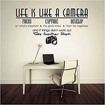 Amazon Com Life Is Like A Camera Vinyl Wall Lettering Quotes