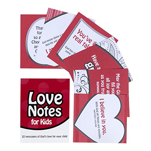 Lunch Box Stationery - DaySpring Stationery Love Notes for Kids, 32 Affirmation Notes (39239)