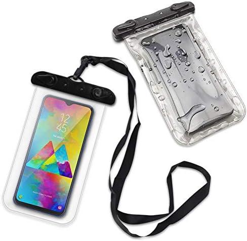 Waterdichte hoes compatibel met Samsung Galaxy M31 tas beschermhoes telefoonhoes waterdicht strand outdoor kleur ultra helder