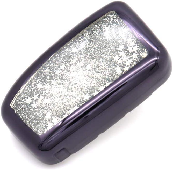 Black Senauto Sparkling Quicksand Key Fob Cover Full Coverage Protection Key Case Key Chain for Lexus 2013-up RX350 NX200 NX200t NX300 NX300h IS200t ES250 ES350 GS350 GS450 Remote Control Smart Key