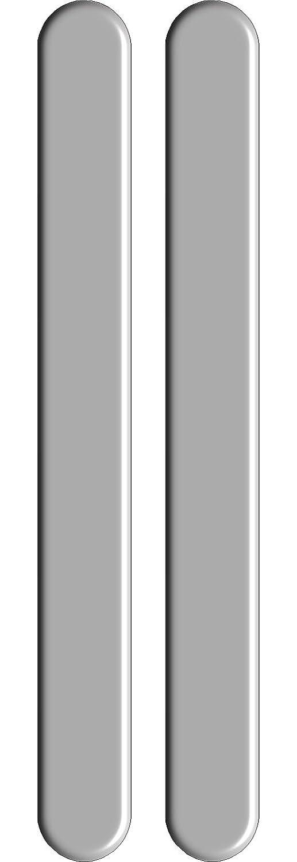 Quattroerre 12554 Protezioni Salva Paraurti 3D H 4 Cm X L 47 Cm 2 Pezzi, Argento Quattroerre Italia