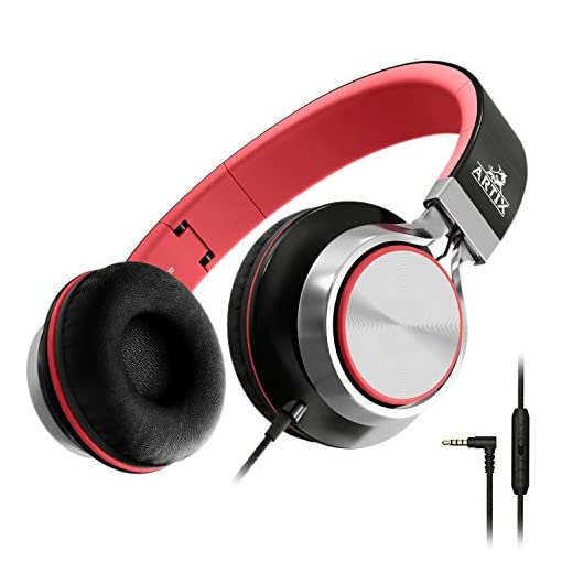 Artix-Foldable-Headphones-with-Microphone-and-Volume-Control-NRGSound-CL750-On-Ear-Stereo-Earphones-Great-for-KidsTeensAdults