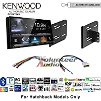 Volunteer Audio Kenwood DDX9704S Double Din Radio Install Kit with Apple Carplay Android Auto Fits 2012-2013 Nissan Versa