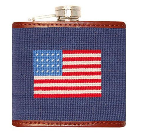 Smathers & Branson American Flag Needlepoint Flask (Flask-10) (Needlepoint Flask)