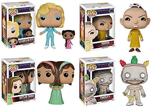 American Horror Story Season 4 Elsa Mars and Ma Petite, Twisty, Tattler Twins, Pepper POP! Vinyl Figures Set of - Horror American Elsa