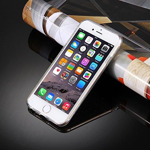 BING Für iPhone 6 / 6s, Transparente Sterne Glitzer Powder Soft TPU Schutzhülle BING