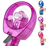 Highpot Water Spray Misting Fan New Portable Hand held Cooling Mist Travel Beach Water-misting Fan (Purple)