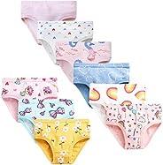 JackLoveBriefs Girls Soft Cotton Underwear with 9 Packs Baby Panties Assorted Briefs(2T-8T)
