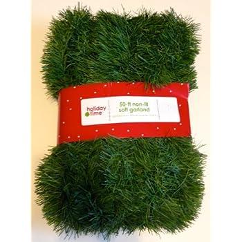 Amazon Com 50 Foot Non Lit Green Holiday Soft Garland