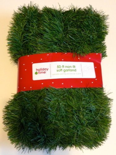 (50 Foot Non-Lit Green Holiday Soft Garland )