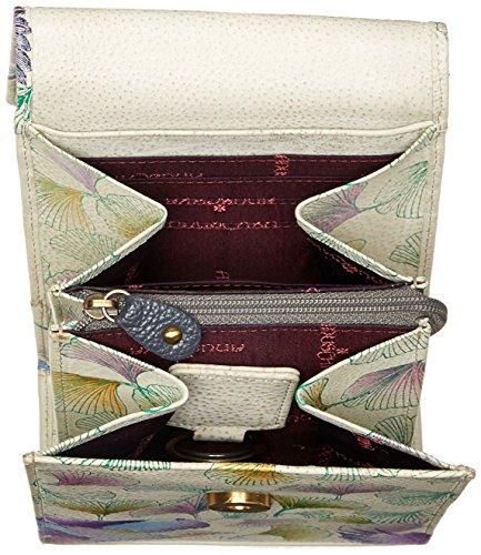 Anuschka Bolsos de piel pintado a mano, Cuero bolsos de hombro para Mujer, Bolsos de mujer de marca, Multi bolsillo bandolera crossbody (412 WHP)
