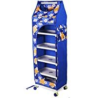 Ebee Baby 6 Shelves Printed Wardrobe (Blue)