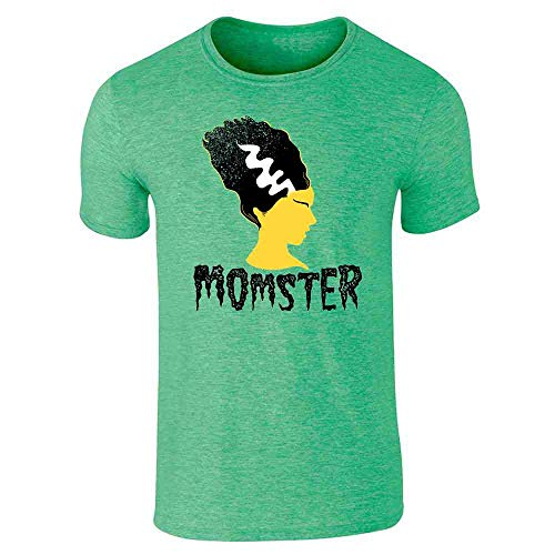 Pop Threads Momster Mom Monster Halloween Fall Costume Funny Heather Irish Green M Short Sleeve T-Shirt -