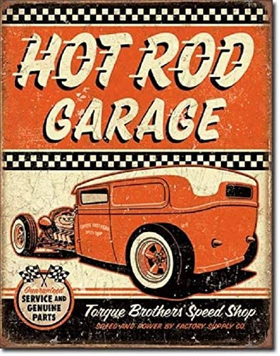 Busted Knuckle Retro Rat Hot Rod Metal Tin Sign Picture Garage Shop Decor Gift