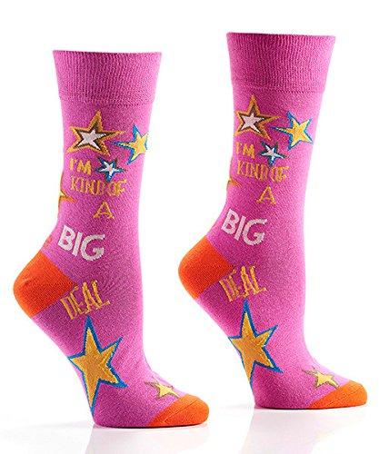Yo Sox Big Deal Funky Women S Crew Socks For Dress Or