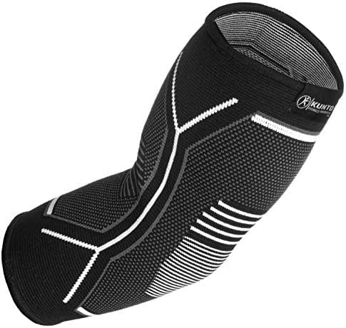 Kunto Fitness Elbow Brace Compression Support Sleeve for Tendonitis, Tennis Elbow, Golf Elbow Treatment - Reduce Joint Pain During Any Activity!
