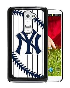New York Yankees Black High Quality Custom LG G2 Protective Phone Case