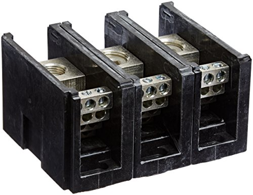 (Power Distribution and Terminal Block, Connector Blok - Single Primary - Multiple Secondary, 500MCM-4 AWG Line and 4-14 AWG Load Side Configuration, 1.71