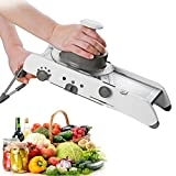 Supreme Adjustable Stainless Steel Mandoline Slicer,Manual Kitchen Cutter Shredder Julienne for Grinding, Cutting,Slicing Fruit Food Vegetables