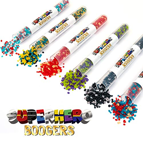 Superhero Boogers Candy | Fun 6-Pack | Great Party Treat! | Gluten, Dairy, Soy and Nut Free! | Fruit Flavored Candy | Hulk | Iron Man | Black Panther | Captain America | Wolverine | Captain Marvel