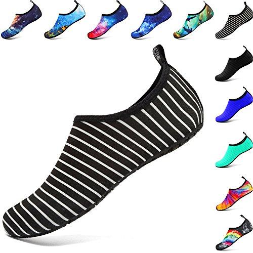 Jardin Nager welltree Sports Rapide Chaussures Séchage Yoga Marcher d'eau Aqua Parc Lac Femmes Stripe Conduite Danse Chaussures Hommes White Nautisme Plage wxCvqSwZ