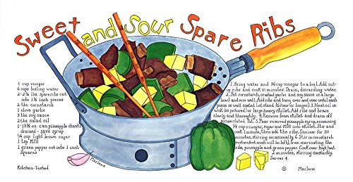 Sweet and Sour Spare Ribs by Marlene Siff Art Print, 15 x 8 inches