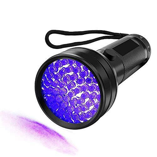 UV Flashlight Black light UV Lights, Msqtie 51 LED Ultraviolet Blacklight 395nm, Detector for Dry Pets Urine & Stains & Bed Bug