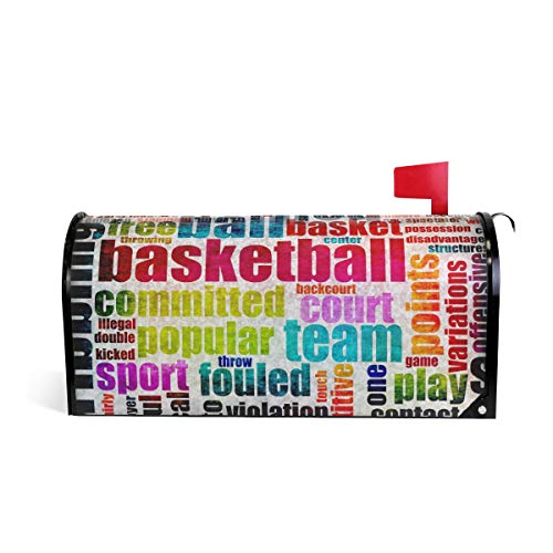 WOOR Basketball Letter Magnetic Mailbox Cover Standard Size-18