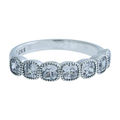 12f1bea2e Image Unavailable. Image not available for. Color: Pandora Alluring Cushion  Ring, Clear CZ ...