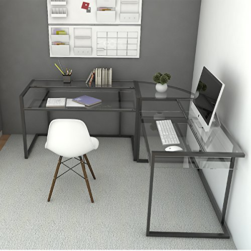 Ryan Rove Belmac 3-Piece Corner C Frame L Shaped Computer Desk (Desk Corner Custom)