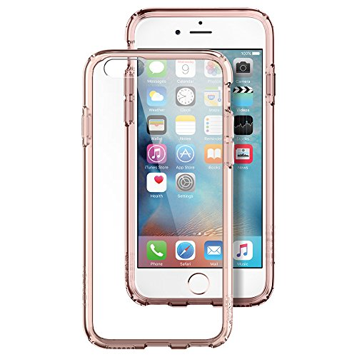 Spigen Ultra Hybrid iPhone 6S Case with Air Cushion Technology and Hybrid Drop Protection for iPhone 6S 2015 - Rose Crystal