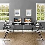 "Mr IRONSTONE L-Shaped Desk 50.8"" Computer Corner"