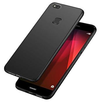 Funda Huawei P10 Lite,Carcasa Huawei P10 Lite,POOPHUNS Fundas Carcasas Case Caso para Huawei P10 Lite,Negro ...