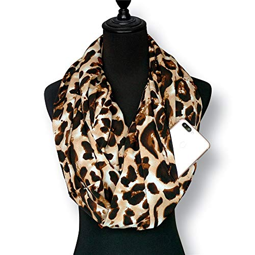Dresser Butterflies Scarf (Suma-ma On Sale 14.4''X70.8'' Retro Floral Women Infinity Scarves with Pocket - Anti-Theft Travel Scarf)