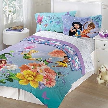 Disney Tinkerbell hadas Floral completo colcha y juego de