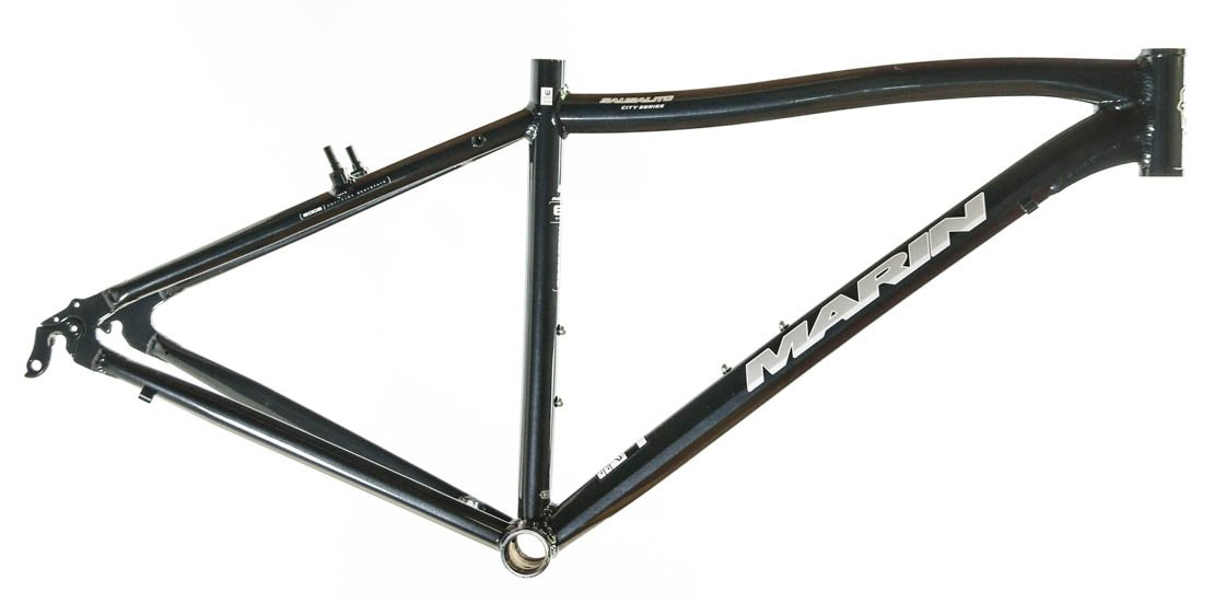 22'' MARIN SAUSALITO Road Commuter Bike Frame Alloy Black 700c E3 Tubing NOS NEW