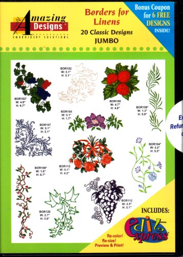 Amazing Designs Borders for Linens Jumbo