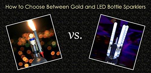 LED Bottle Service Sparklers for VIP Nightclubs Led Sparklers Bottle Baton Electronic Sparklers 24PACK