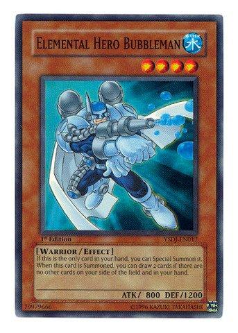Yu-Gi-Oh! - Elemental Hero Bubbleman (YSDJ-EN017) - Starter Deck Jaden Yuki - 1st Edition - Super (Super Rare Set)