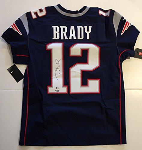 Tom Brady Signed Jersey - NE Nike Elite TSP BAS COA [ ] - PSA/DNA Certified - Autographed NFL Jerseys